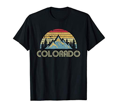 Colorado Tee - Retro Vintage Mountains Nature Hiking T Shirt T-Shirt