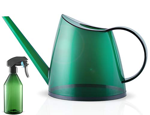Watering Can, Indoor Outdoor Plant Watering Cans, Plastic Long Spout Garden Water Can for Houseplants, Foliage Plants Succulent Bonsai Herbs, Watering Pot Small Modern Style, 40oz 1/3 Gallon 1.4 L