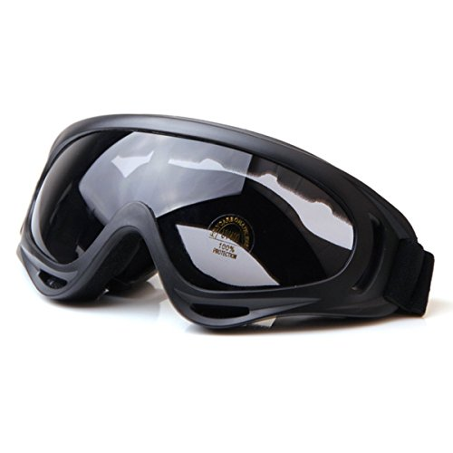 Winddicht Snowboardbrille Skibrille Motorradbrille Motocross Brille Schneebrille Schutzbrillen Sportbrille Schwarz