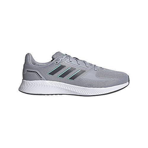 adidas Męskie buty do biegania Runfalcon 2.0, 12,5 UK, Halo Silver Grey pięć kwasów miętowych - 48 EU