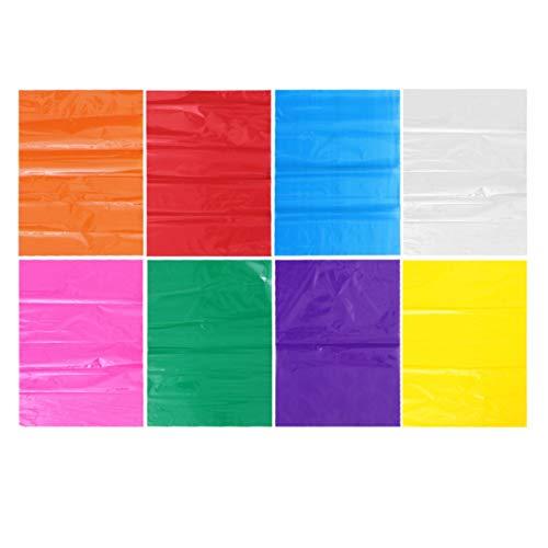 Toyvian 24 Hojas de Celofán Envuelve Papel de Color