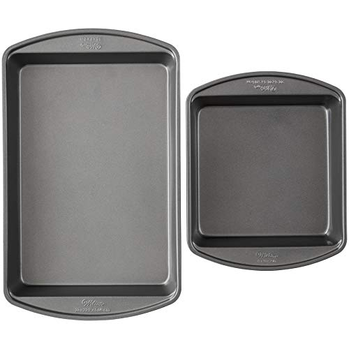 Wilton Perfect Results Premium NonStick Oblong and Square Cake Pan Set 2Piece