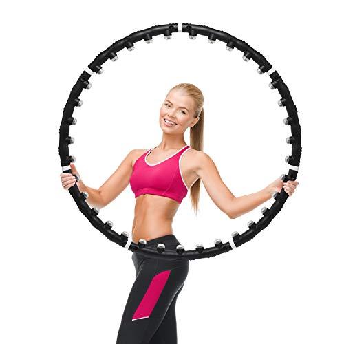 SCM Fitness Hula Hoop Reifen Massagenoppen Bauchtrainer Fitnessreifen Trainingsreifen Taille Bauch