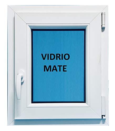 (V01M) Ventana Pvc Baño 500x600 Oscilobatiente Derecha Climalit Mate