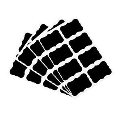 XGQ 10 PCS Fancy Black Board Kitchen Jam Jar Label Etiquetas Pegatinas