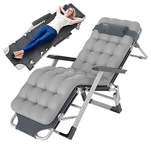 AMAFS Sedia Imbottita Lounge Zero Gravity, sedie Pieghevoli reclinabili per Ufficio reclinabili per Patio, per Giardino a Bordo Piscina nel Cortile dell'ufficio Festival