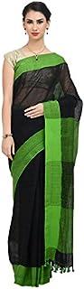 The Weave Traveller Handloom Women's Linen Saree With Banarasi Zari With Attached Blouse (TWT_L_YELZARI_144)