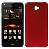Mb Accesorios Funda Carcasa Gel Roja para Huawei Y5 II/Y6 Compact, Ultra Fina 0,33mm, Silicona TPU de Alta Resistencia y Flexibilidad