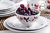 Kahla 57G157A50664C Heyday 16tlg. Kombiservice Porzellan 4-Personen Frühstücksset mit Blumendekor - 4