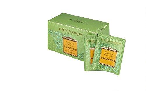 FORTNUM & MASON - Green Tea and Elderflower (Tè verde e Fiore di sambuco) - 25 Bustine x 3 (totale: 75 Bustine)