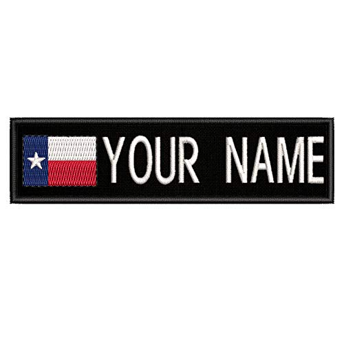 Custom Personalized Your Name Texas Flag Embroidered Premium Patch DIY Iron-on or Sew-on Decorative Badge Emblem Vacation Souvenir Travel Gear Clothes Appliques