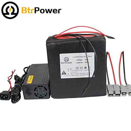 36V 10AH 20AH Ebike Battery, Lithium Battery Pack Power with Charger,50A BMS for 350W 500W 1000W e-Bike Motor