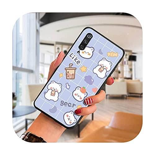 Lindo oso y conejo teléfono caso para SamsungA 51 6 71 8 9 10 20 40 50 70 20s 30 10 más 2018 cubierta fundas coque-a1-para A20S