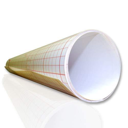 ASLAN Lampenschirmfolie, Weiss, opak, selbstklebend, 0,25 mm stark, 60 cm breit (60 cm x 1 Meter)