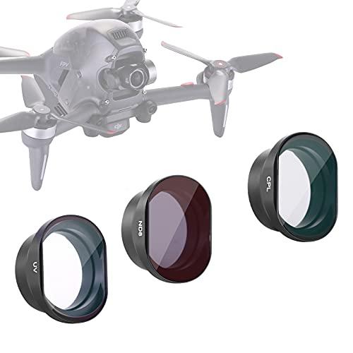Neewer Set di 3 filtri per drone DJI FPV, filtro polarizzatore circolare CPL, filtro UV e kit filtro ND8