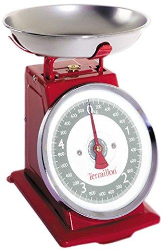 Terraillon ART7012 Tradition 500 Bilancia Meccanica, Rosso, elettrica, acciaio inossidabile
