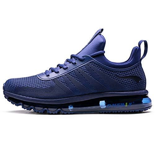 ONEMIX Hombre Air Running Zapatillas Outdoor Trail Trainers - Zapatillas de Deporte de Gimnasia con Diseño de Una Pieza Y1191-Blue-45