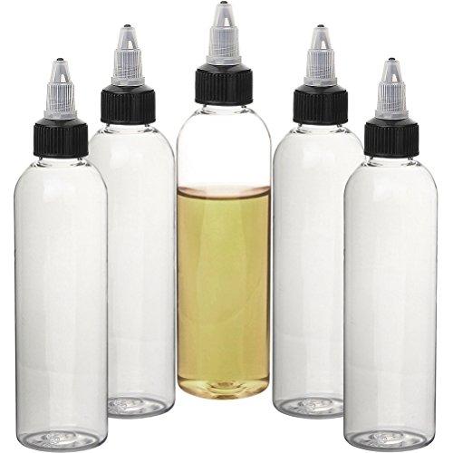 Botella de torcedura Botella de aceite de plástico Botellas cuentagotas de aguja de acero embotellador exprimible para aromatizantes y líquidos (120 ml)