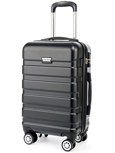 HoJax 20 inch Hardside Spinner Luggage Lightweight Carry On Black