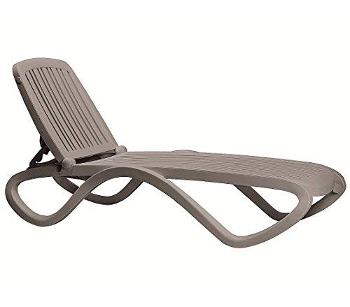 Classic NARDI Tropico Sonnenliege Saunaliege Relaxliege Bäderliege stapelbar tortora