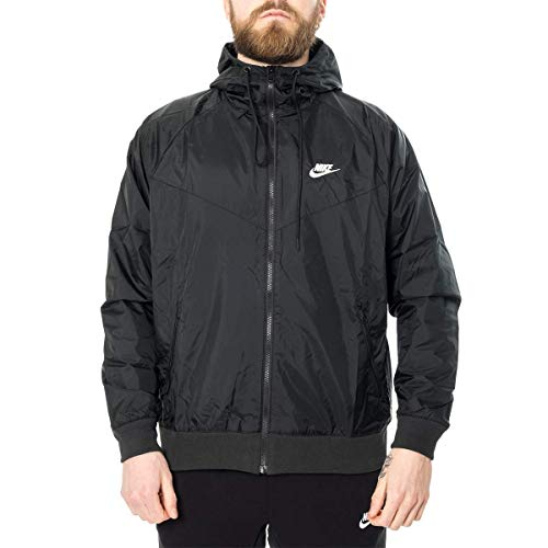 Nike Mens Sportswear 2019 Hooded Windrunner Jacket (Black/Black/Small)