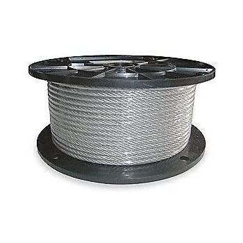 Vinyl Coated Wire Rope Aircraft Cable 3 16 Inch Thru 1 4 Inch 7x19 50 100 250 500 1 000 Ft 50 Ft Coil Amazon Com Industrial Scientific