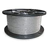 Vinyl Coated Wire Rope Aircraft Cable, 3/16-Inch Thru 1/4-Inch 7x19 : 50, 100, 250, 500 & 1,000 ft (100 ft Coil)