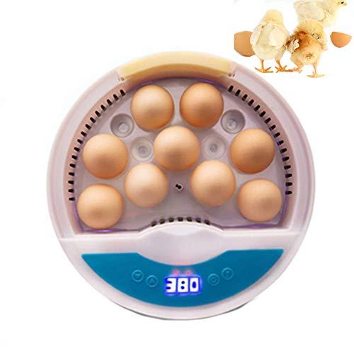 Brutmaschine Vollautomatisch 9 Eier Inkubatoren Brutmaschine Mit Led Temperaturanzeige Und Feuchtigkeitsregulierung Für Geflügeleier Hühner