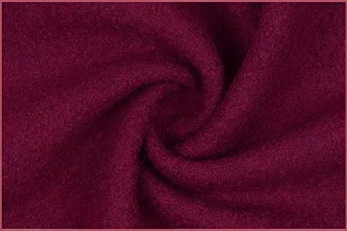 Die Stofftante Walkloden Wollwalk 100% Wolle Walkstoff Fuchsia 50 x 146 cm Meterware