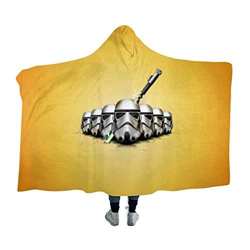 DONL9BAUER Manta portátil Star Space Wars manta Storm-troopers ropa de cama sudadera con capucha cálida para adultos niños y adolescentes