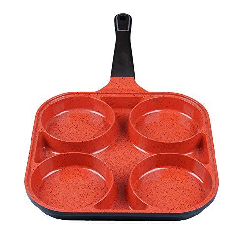 Padella antiaderente a quattro fori per friggere, casalinghi, pancake, uova fritte, mini padella a gas, adatto per la cucina domestica