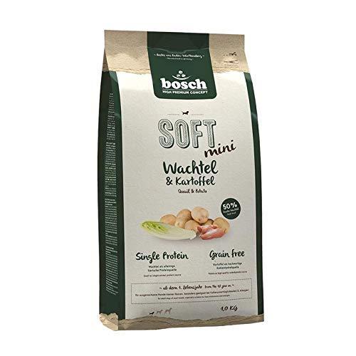 bosch HPC SOFT Mini Quail & Potato | Alimento semi-húmedo para perros adultos de razas pequeñas | Monoproteico | Sin cereales | 1 x 1 kg