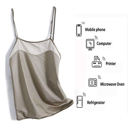 TZH Strahlenschutzkleidung für Schwangere Frauen, Doppeldeck-Silber-Faser-Strahlenschutzweste, Schwangerschaft Bauchband zur Abschirmung elektromagnetischer Wellen, Antibakteriell