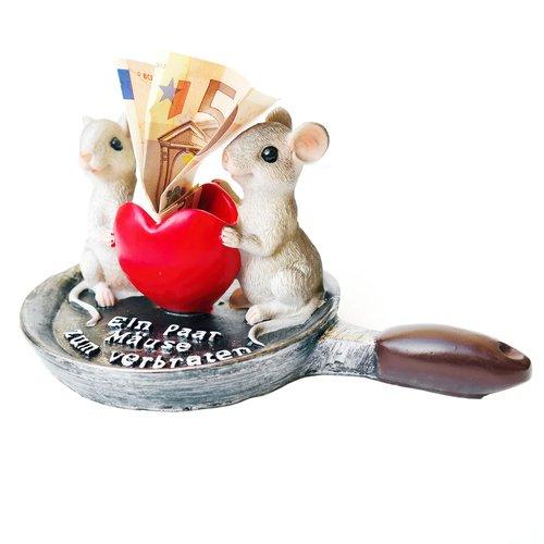 art decor Geldgeschenk, Spardose EIN Paar Mäuse zum verbraten - 5