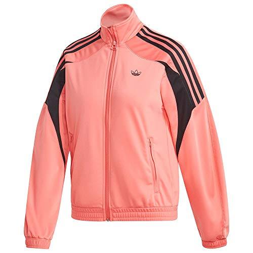 Adidas Damska bluza TRACKTOP półbłyskowa, czerwona, 46