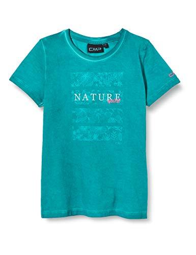 CMP Mädchen Stretch Dyed Jersey T-Shirt, Lake, 164
