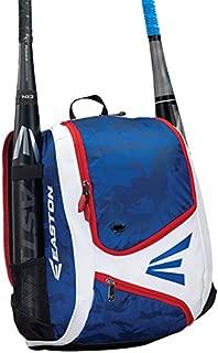 EASTON E110YBP Youth Bat & Equipment Backpack Bag | Baseball Softball | 2020 | 2 Bat Sleeves | Smart Gear Storage | Valuables Pocket | Rubberized Zipper Pulls & Fence Hook for Dugout Functionality