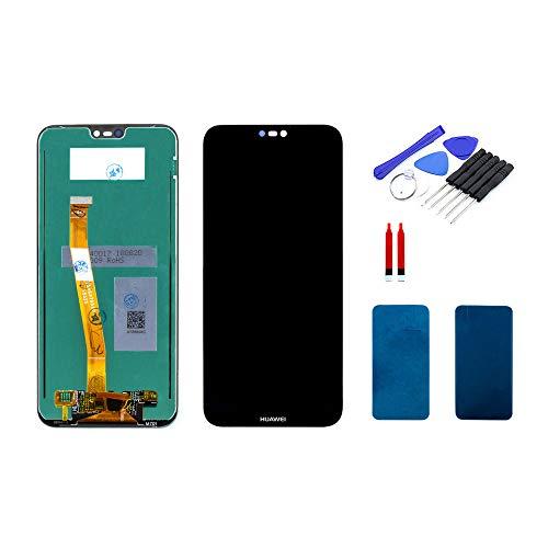 kaputt.de Display schwarz (5,84 Zoll) für Huawei P20 lite | LTPS IPS LCD Bildschirm inkl. DIY Reparatur-Set