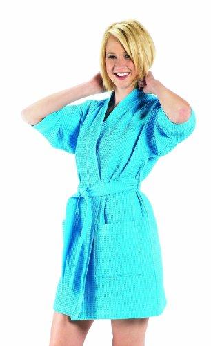 BY LORA Damen Kimono, Oberschenkellänge One Size aqua