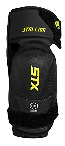 STX Stallion 500 Senior Ice Hockey Elbow Pad, Black/Yellow, Large