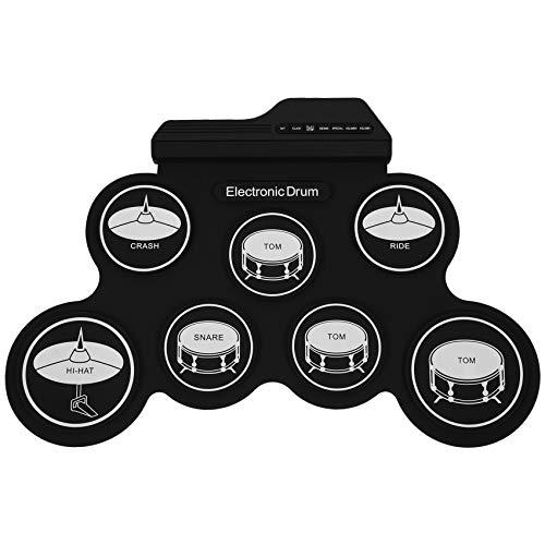 Yaootely Compact USB Rolled Silicon Trommel Set Digitales Elektronisches Schlagzeug 7 Trommel Pads Mit Drum Sticks Für Anf?nger