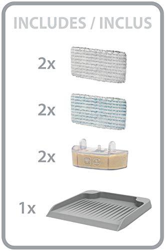 Rowenta Clean & SteamNettoyeur Vapeur Nettoie et Aspire en Même Temps à la Vapeur Gain de Temps Nettoyage Parfait Sans Détergent Prêt en 30 Secondes RY7557WH