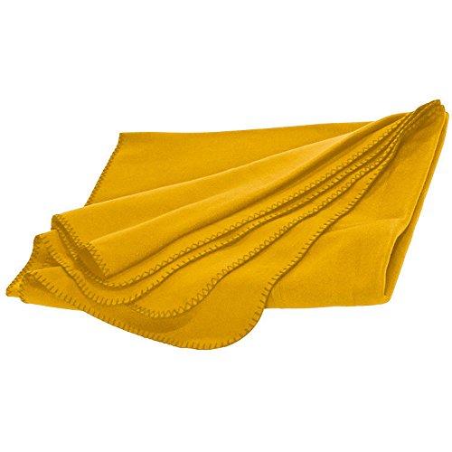 XL Fleecedecke und Kissen in einem, gelb, ca. 180x120 cm
