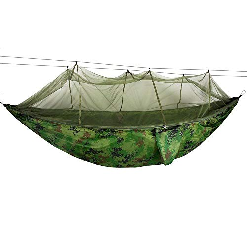 LLKK Hängematte Militär Dschungel Hängematte Moskitonetz Camping Reise Fallschirm Hängebett Zelt Tarnung