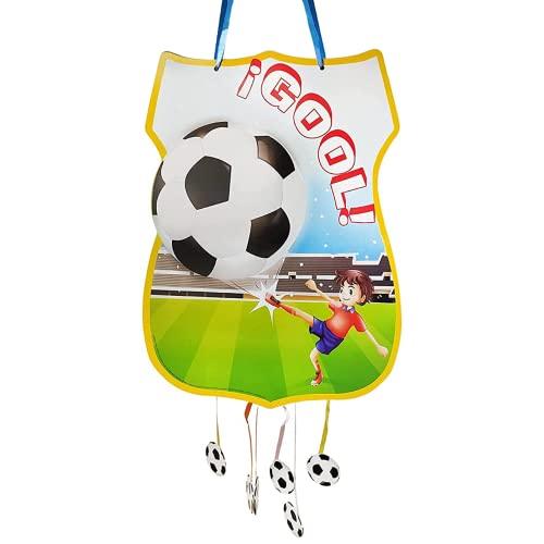 Piñata De Cumpleaños Grande De Fútbol Para Rellenar. Juguete De Aniversario, Fiesta Infantil Y Comunión Para Niño Y Niña