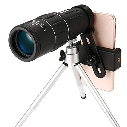 HSKB monokulare telescoop High Power 16x52 HD monoculaire compact verrekijker waterdicht met mobiele telefoon houder adapter nachtzicht voor camping vogels kijken reizen dieren jacht