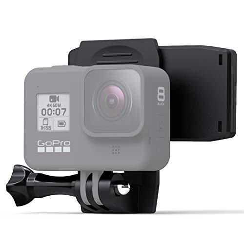 Wealpe Rucksack Halterung Drehclip Klemme Kompatibel mit GoPro Hero 9, 8, 7, Max, Fusion, Hero (2018), 6, 5, 4, Session, 3+, 3, 2, 1, DJI Osmo, Xiaomi Yi Kameras
