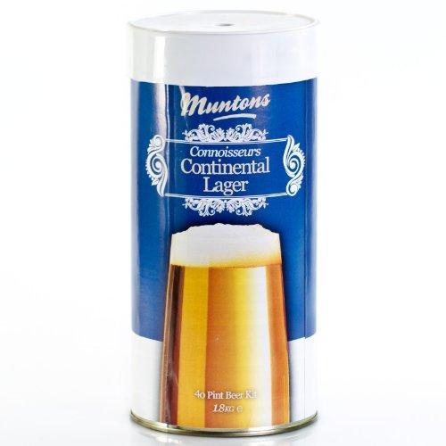 Muntons Continental - Kit de cerveza para 23 litros de cerveza (1,8 kg)