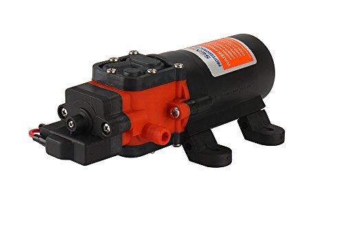 lighteu®, Seaflo DC 12 V 4,3 l/min 2,4 bar 2-Kammer-Wasserdruckmembranpumpe, 21 s, für Marine, Boote, Yacht, Wohnwagen, Garten