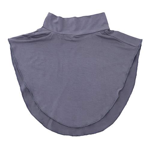 Baoblaze Faux Col Couverture du Cou pour Femme Homme - Gris